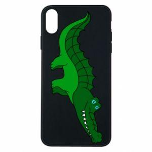Etui na iPhone Xs Max Blue-eyed crocodile