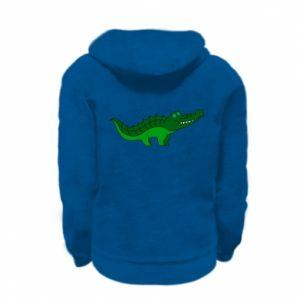 Bluza na zamek dziecięca Blue-eyed crocodile