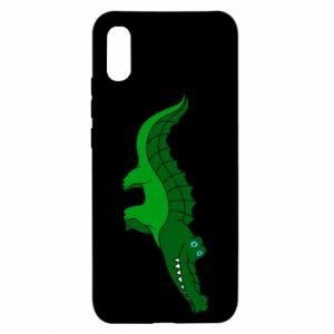 Etui na Xiaomi Redmi 9a Blue-eyed crocodile