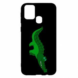Etui na Samsung M31 Blue-eyed crocodile