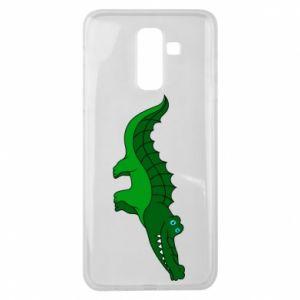 Etui na Samsung J8 2018 Blue-eyed crocodile