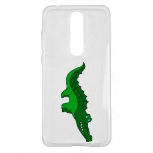 Etui na Nokia 5.1 Plus Blue-eyed crocodile