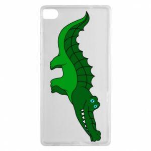 Etui na Huawei P8 Blue-eyed crocodile