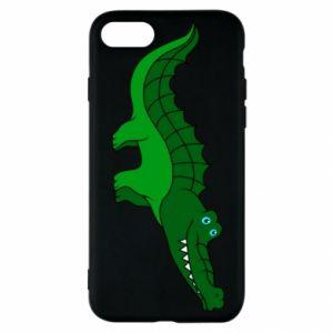 Etui na iPhone SE 2020 Blue-eyed crocodile