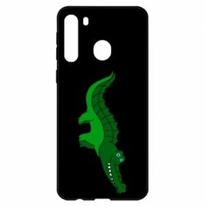 Etui na Samsung A21 Blue-eyed crocodile