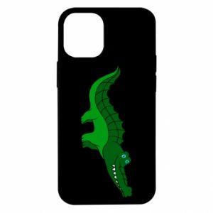 Etui na iPhone 12 Mini Blue-eyed crocodile