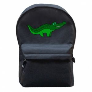 Backpack with front pocket Blue-eyed crocodile