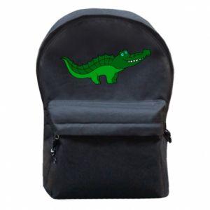 Plecak z przednią kieszenią Blue-eyed crocodile