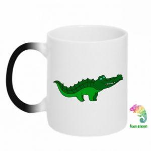 Kubek-kameleon Blue-eyed crocodile
