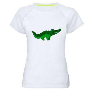 Koszulka sportowa damska Blue-eyed crocodile