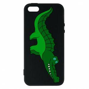 Etui na iPhone 5/5S/SE Blue-eyed crocodile