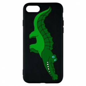 Etui na iPhone 7 Blue-eyed crocodile