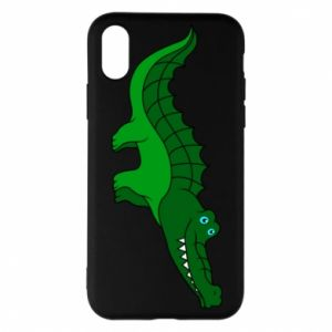 Phone case for iPhone X/Xs Blue-eyed crocodile