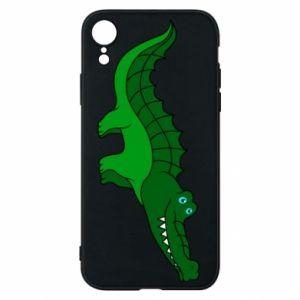 Etui na iPhone XR Blue-eyed crocodile