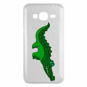 Etui na Samsung J3 2016 Blue-eyed crocodile