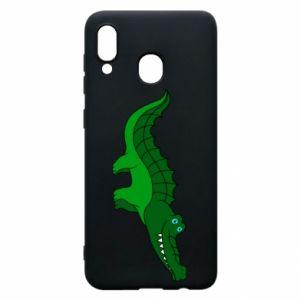 Etui na Samsung A30 Blue-eyed crocodile