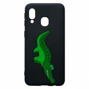 Etui na Samsung A40 Blue-eyed crocodile