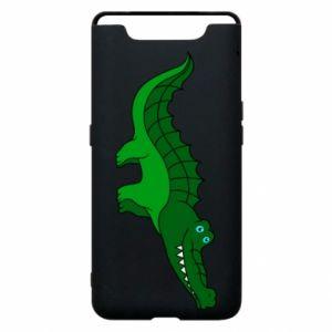 Etui na Samsung A80 Blue-eyed crocodile