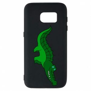 Phone case for Samsung S7 Blue-eyed crocodile