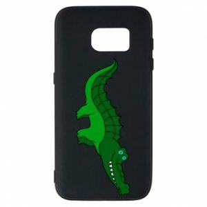 Etui na Samsung S7 Blue-eyed crocodile