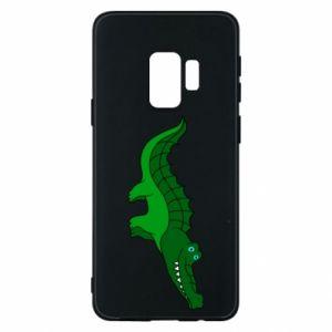 Etui na Samsung S9 Blue-eyed crocodile