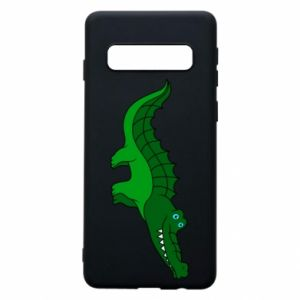 Phone case for Samsung S10 Blue-eyed crocodile