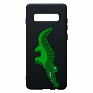 Etui na Samsung S10+ Blue-eyed crocodile