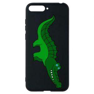 Etui na Huawei Y6 2018 Blue-eyed crocodile