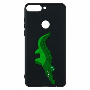 Phone case for Huawei Y7 Prime 2018 Blue-eyed crocodile