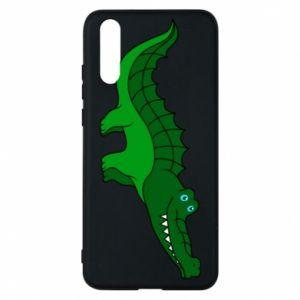 Etui na Huawei P20 Blue-eyed crocodile