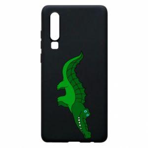 Etui na Huawei P30 Blue-eyed crocodile