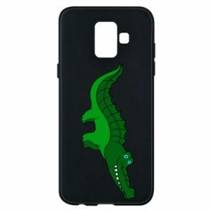 Etui na Samsung A6 2018 Blue-eyed crocodile