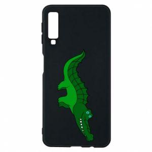 Etui na Samsung A7 2018 Blue-eyed crocodile