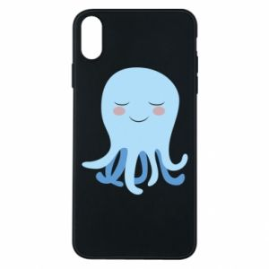 Phone case for iPhone Xs Max Blue Jellyfish - PrintSalon