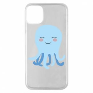 Phone case for iPhone 11 Pro Blue Jellyfish - PrintSalon