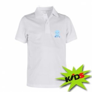 Children's Polo shirts Blue Jellyfish - PrintSalon