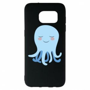 Etui na Samsung S7 EDGE Blue Jellyfish
