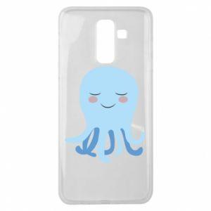 Etui na Samsung J8 2018 Blue Jellyfish