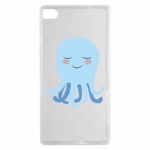 Etui na Huawei P8 Blue Jellyfish