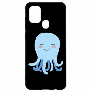 Etui na Samsung A21s Blue Jellyfish