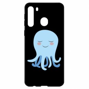 Etui na Samsung A21 Blue Jellyfish