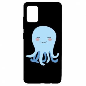 Etui na Samsung A51 Blue Jellyfish