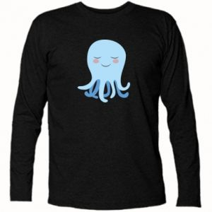 Long Sleeve T-shirt Blue Jellyfish - PrintSalon