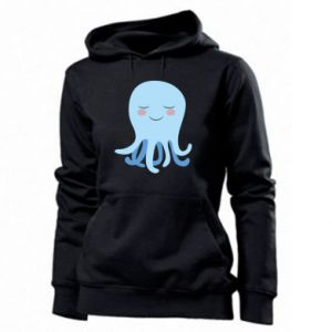 Women's hoodies Blue Jellyfish - PrintSalon