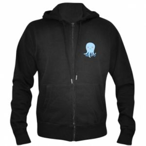 Men's zip up hoodie Blue Jellyfish - PrintSalon