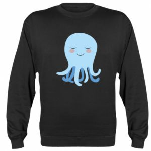 Sweatshirt Blue Jellyfish - PrintSalon