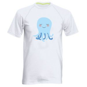 Men's sports t-shirt Blue Jellyfish - PrintSalon