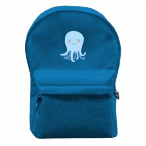 Backpack with front pocket Blue Jellyfish - PrintSalon