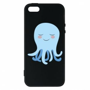 Phone case for iPhone 5/5S/SE Blue Jellyfish - PrintSalon
