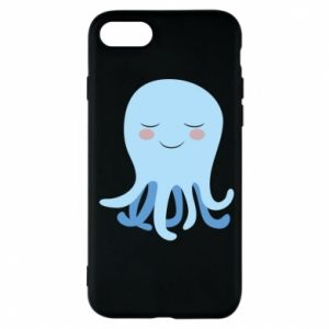 Phone case for iPhone 7 Blue Jellyfish - PrintSalon